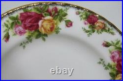 Private For Mimi Royal Albert Old Country Roses China 22k 8¼ 12 Salad Plates