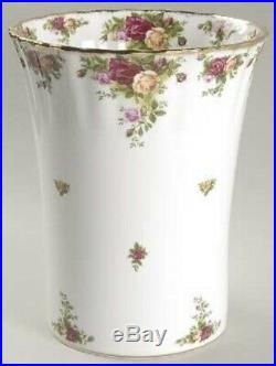RARE NEW Royal Albert Old Country Roses Ceramic Wastebasket Classic Floral