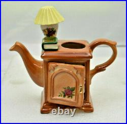 RARE Old Country Roses One Cup Teapot BEDSIDE CABINET by Royal Albert