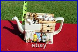 RARE Paul Cardew Old Country Roses Royal Albert Sink Co. Kitchen Sink Teapot