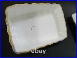 RARE ROYAL ALBERT OLD COUNTRY ROSES CHEESE WEDGE TRAY DISH PLATE With DOMED LID