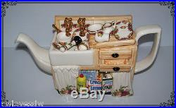 RARE ROYAL ALBERT OLD COUNTRY ROSES PAUL CARDEW EARTHENWARE KITCHEN SINK TEA POT