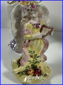 RARE Royal Albert Old Country Roses Bone China Angel Figurines Ornaments HTF