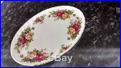 RARE Royal Albert Old Country Roses Oval Plates x 3
