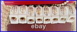 RARE! Set Of 8! Royal Albert OLD COUNTRY ROSES Napkin Rings England 1st Stamp