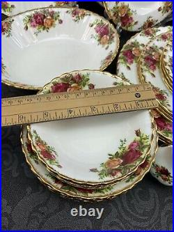 READ Lot Of 30 Pcs Royal Albert Old Country Roses Dinner Salad Bread Plate Cups