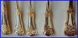 ROYAL ALBERT 12/5pc PLACE SETTINGS OLD COUNTRY ROSES 22k STAINLESS FLATWARE-&BOX