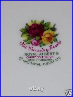 ROYAL ALBERT 1999 OLD COUNTRY ROSES CHINTZ COLLECTION LARGE SANDWICH TRAY 12