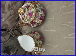 ROYAL ALBERT 1999 OLD COUNTRY ROSES CHINTZ Sugar & Creamer Excellent Cond