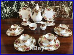 ROYAL ALBERT England OLD COUNTRY ROSES edles 21 teiliges Kaffeeservice / 6per