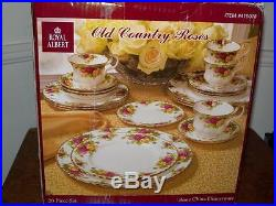 Royal Albert Old Country Roses 20 Piece Dinnerware Set 4 Place Settings New