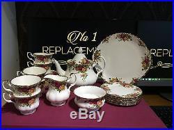 Royal Albert Old Country Roses 22 Piece Tea Set New Unused 1st