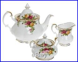 Royal Albert Old Country Roses 37 Pc Dinnerware & Flatware Set For 4 New In Box