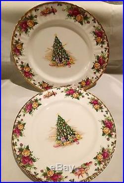 ROYAL ALBERT OLD COUNTRY ROSES CHRISTMAS MAGIC 4 Dinner Plates England