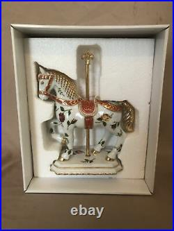 ROYAL ALBERT OLD COUNTRY ROSE CAROUSEL HORSE FIGURINE With Box And Paperwork