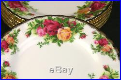 ROYAL ALBERT Old Country Roses 42pc Lot Service For 6 + Extras England