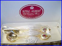 ROYAL ALBERT Old Country Roses 6 TeaspoonsButter Knife & Jam Spoon