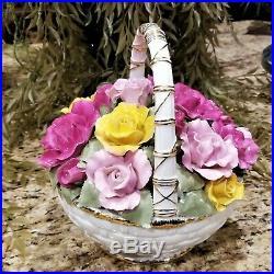 ROYAL ALBERT Old Country Roses Basket of Roses Music Box Beethoven Fur Elise