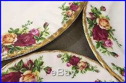 ROYAL ALBERT Old Country Roses Bone China Five Pc Place Setting, Teapot ++