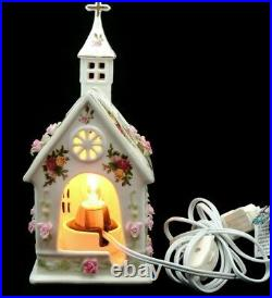 ROYAL ALBERT Old Country Roses Lighted Church Tea Light Candle