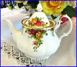ROYAL ALBERT Old Country Roses Teapot Large Size 1st Quality AS NEW