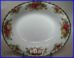 ROYAL ALBERT china OLD COUNTRY ROSES 1962 stamp 68-piece SET SERVICE for 12