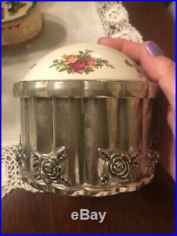 ROYAL DOULTON OLD COUNTRY ROSES DRESSER SET COLLECTION Godinger 4 Piece Set