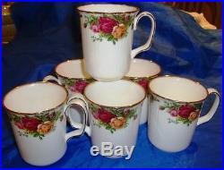 Rare Royal Albert OLD COUNTRY ROSES Coffee Mugs Set
