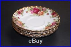 Rare Royal Albert Old Country Roses Bone China England Set 46 Pieces