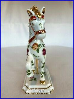 Rare Royal Albert Old Country Roses Carousel Horse Limited Edition Excellent