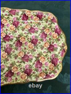 Rare Royal Albert Old Country Roses Chintz Tea Cups & Sandwich Tray Platter