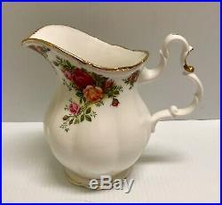 Rare Royal Albert Old Country Roses England Water Pitcher Ewer Salad Bowl Set