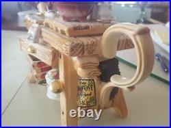 Rare Royal Albert Old Country Roses Gardeners Bench Gnome Paul Cardew Teapot