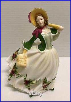 Rare Royal Albert Old Country Roses Pretty Ladies Figure Figurine -ra 22 Rose