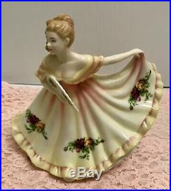 Rare Royal Albert Old Country Roses Pretty Ladies Figurine Charlotte Hn4949