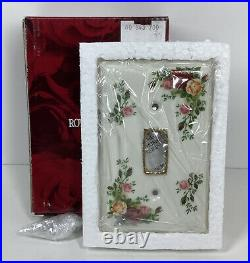 Rare Royal Albert Old Country Roses Rare Light Switch Plate Cover