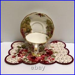 Rare Royal Albert Old Country Roses Tranquil Garden Tea Cup & Saucer Plate