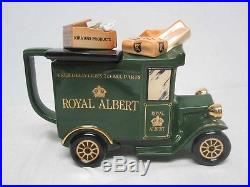 Rare Royal Albert Paul Cardew Old Country Roses Delivery Truck Teapot