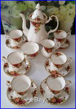 Royal Albert 15pc Coffee Set Old Country Roses C1980s
