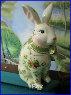 Royal Albert 2003 Seasons Of Colour Rabbit Cookie Jar 12