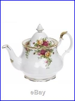 Royal Albert 4 Pc Old Country Roses Completer Tea Set