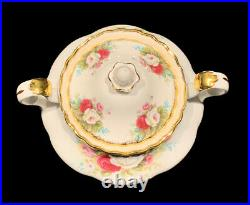Royal Albert A Celebration of the Old Country Roses Sugar & Creamer Set with Lid