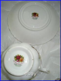 Royal Albert Bone China Old Country Roses Coffee Cups and Saucers Set of 13
