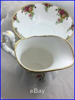 Royal Albert Bone China Old Country Roses Ewer And Basin, Pitcher + Bowl England