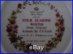 Royal Albert China England Old Country Roses Set Of 4 Seasons Plates F F Errill