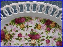 Royal Albert China Old Country Roses 14 Pierced Platter Oval Serving Tray NEW