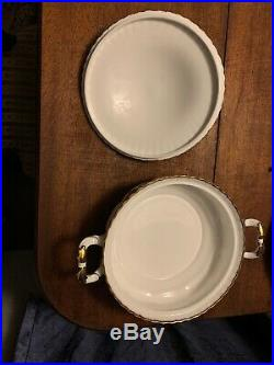 Royal Albert China Old Country Roses 9 Round Handled Covered Casserole Mint