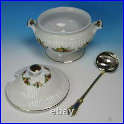 Royal Albert China Old Country Roses Chowder or Soup Tureen with Ladle