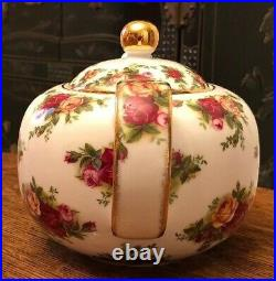 Royal Albert China Old Country Roses Teapot Signed by Michael Doulton