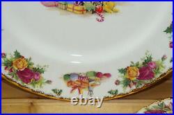 Royal Albert Christmas Magic (3) Dinner Plates, 10 1/2 Old Country Roses
